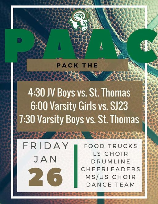 Pack the PAAC this Friday!!!