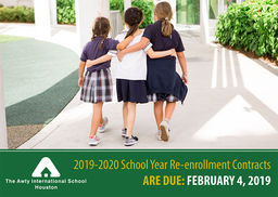 Re-enrollment for 2019-2020 Due February 4