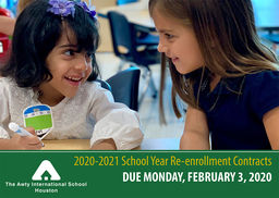 Re-enrollment for 2020-2021 is Now Open!
