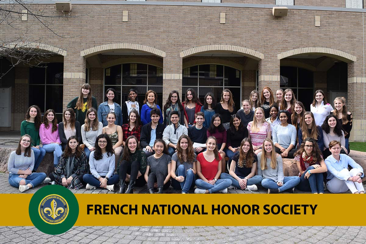 photo of Awty students in the French National Honor society