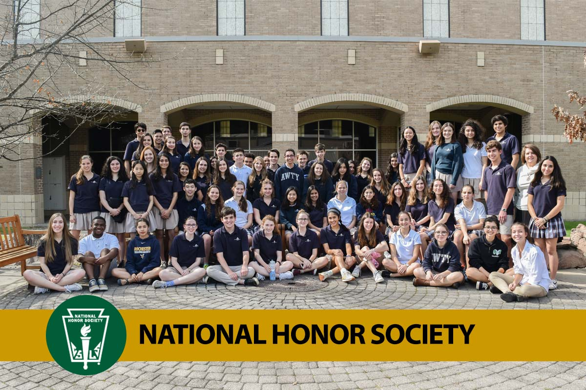photo of students in the national honor society at Awty