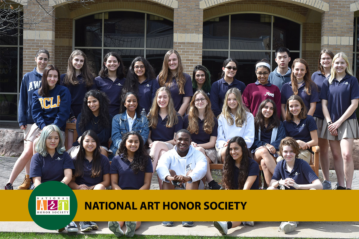 photo of Awty students in the National Art Honor Society