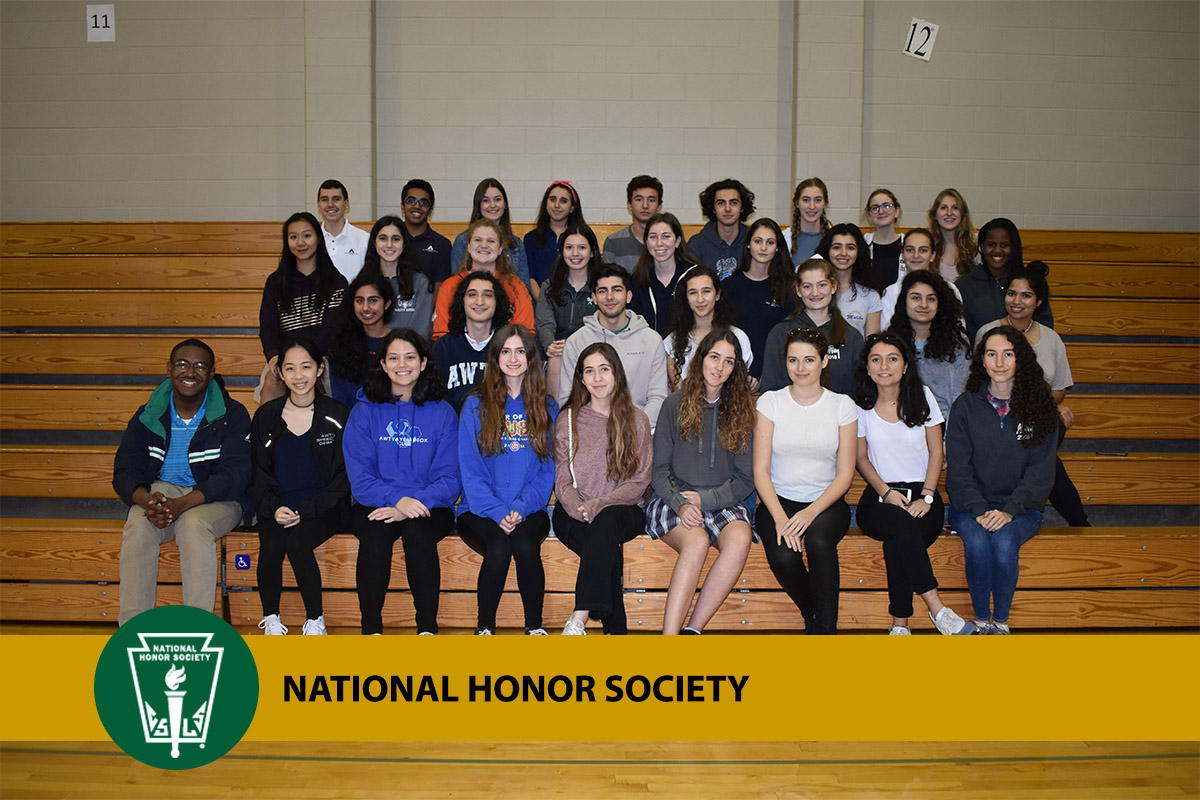 photo of Awty students in the National Honor Society
