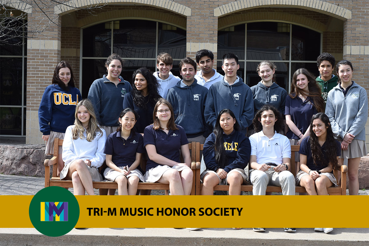 photo of Awty students in the Tri-M music honor society