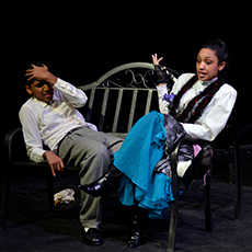 two awty students starring in a  theatre performance